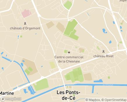 Localisation Centre Communal d'Action Sociale - 49130 - Les Ponts-de-Cé