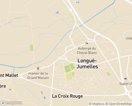 Localisation EHPAD - Centre Hospitalier - 49160 - Longué-Jumelles