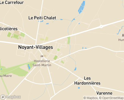 Localisation EHPAD Clairefontaine - 49490 - Noyant-Villages