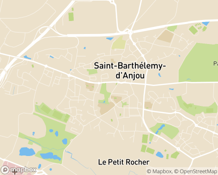 Localisation EHPAD Résidence Bon Air - 49124 - Saint-Barthélemy-d'Anjou