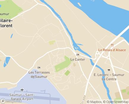Localisation EHPAD Résidence L'abbaye Saint-Hilaire Saint-Florent - 49400 - Saumur