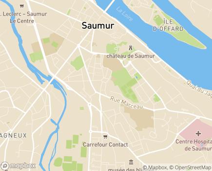 Localisation EHPAD Sainte Anne de Nantilly - 49400 - Saumur
