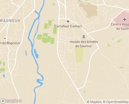Localisation EHPAD Résidence Antoine Cristal - 49403 - Saumur