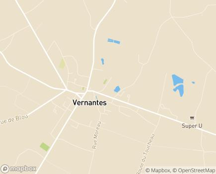 Localisation EHPAD Résidence des 2 Clochers (CCAS) - 49390 - Vernantes