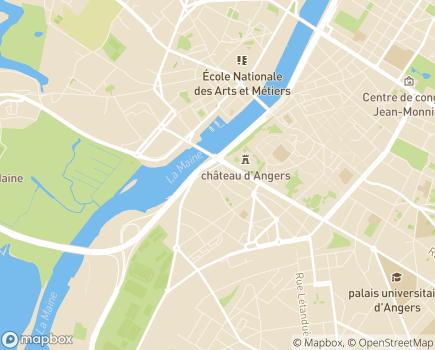 Localisation Hôpital à Domicile Saint-Sauveur - 49100 - Angers