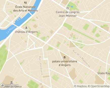 Localisation Résidence Les Jardins d'Arcadie - 49100 - Angers