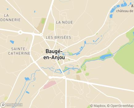 Localisation Etablissement de Santé Baugeois Vallée - 49150 - Baugé