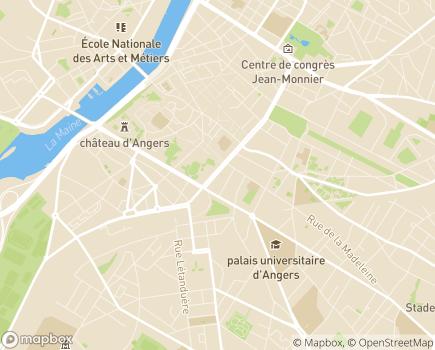 Localisation Résidence avec Services Les Héspérides Foch - 49100 - Angers