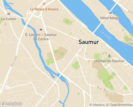 Localisation Résidence Service Bocage Saint-Louis - 49412 - Saumur
