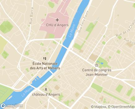 Localisation Aidélia - 49000 - Angers