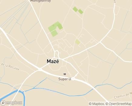 Localisation Résidence Seniors Hestia Kazalis - 49630 - Mazé-Milon
