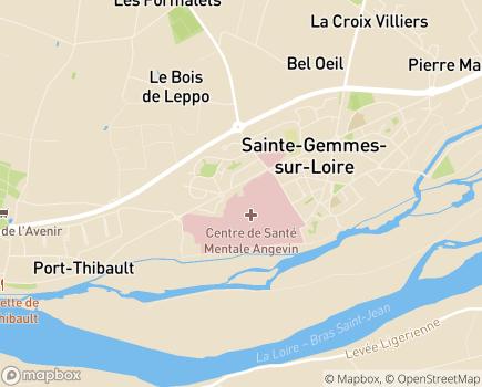 Localisation HAD Saint Sauveur - 49135 - Sainte-Gemmes-sur-Loire