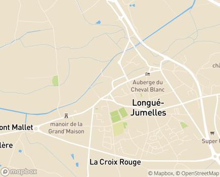 Localisation USLD Hôpital Local Lucien Boissin - 49160 - Longué-Jumelles