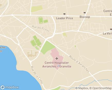 Localisation EHPAD Saint-Gabriel - 50400 - Granville