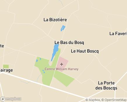 Localisation Korian - Clinique William Harvey - 50190 - Saint-Martin-d'Aubigny