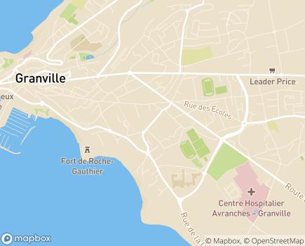 Localisation EHPAD Résidence L'Emeraude - 50400 - Granville