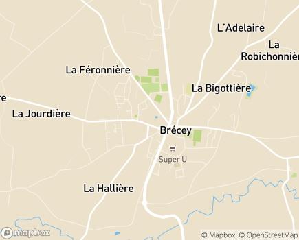 Localisation Résidence Services Escalys - 50370 - Brécey