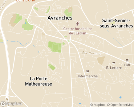 Localisation EHPAD Résidence de Tonge - 50300 - Avranches