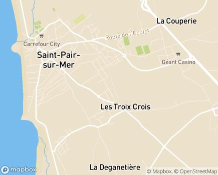 Localisation EHPAD Le Vallon - 50380 - Saint-Pair-sur-Mer