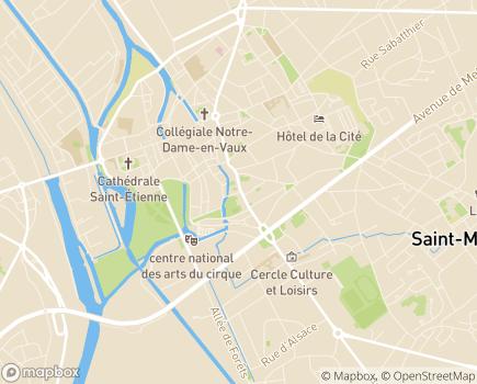 Localisation Conseil Départemental de la Marne - 51038 - Châlons-en-Champagne