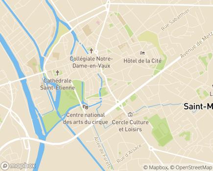Localisation Direction de la Solidarité Départementale - 51000 - Châlons-en-Champagne