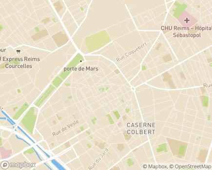 Localisation L'Assurance Retraite Nord-Est - 51100 - Reims