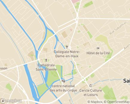 Localisation CREAI Champagne-Ardenne - 51036 - Châlons-en-Champagne