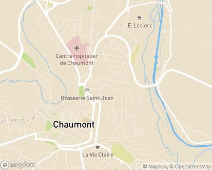 Localisation ARS Agence Régionale de Santé Grand Est - Délégation Territoriale de la Haute-Marne - 52905 - Chaumont