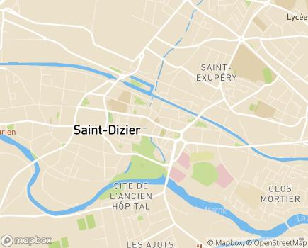 Localisation AXEO Services - 52100 - Saint-Dizier