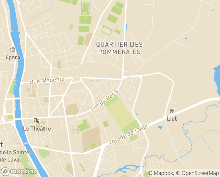 Localisation Résidence services seniors Les Bois Precieux - 53000 - Laval