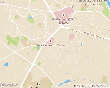 Localisation EHPAD Résidence Cigma - 53000 - Laval