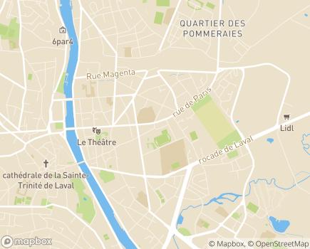 Localisation Les Menus Services - 53000 - Laval