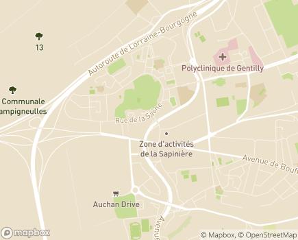 Localisation Korian Le Gentilé - 54520 - Laxou