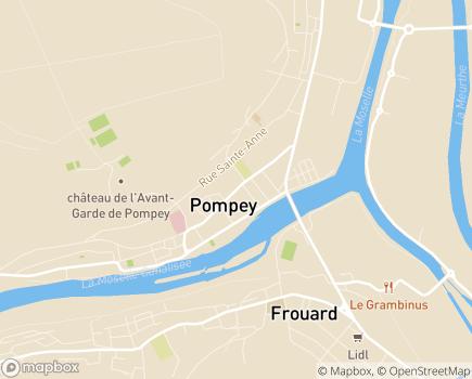Localisation Maison de Retraite Notre Chaumière - 54340 - Pompey