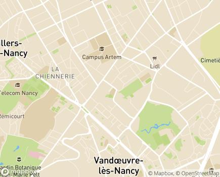 Localisation Korian Jardins du Charmois - 54500 - Vandoeuvre-lès-Nancy