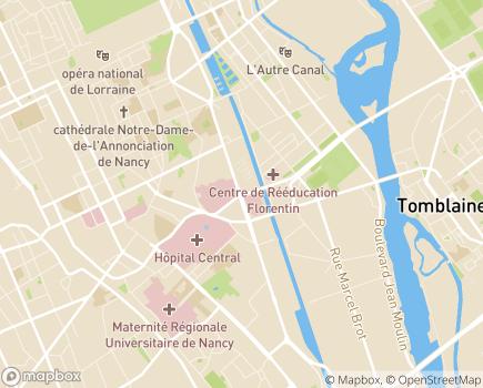Localisation Centre Louis Pierquin - 54000 - Nancy