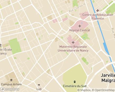 Localisation ADMR Alieh - 54000 - Nancy