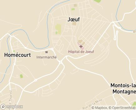 Localisation ONELA Agence de Joeuf - 54240 - Joeuf