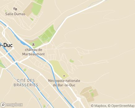 Localisation Korian Les Mélèzes - 55000 - Bar-le-Duc
