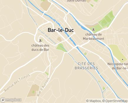 Localisation L'Assurance Maladie, Risques Professionnels Nord-Est - 55000 - Bar-le-Duc