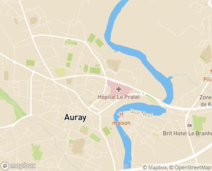 Localisation Centre Communal d'Action Sociale - 56403 - Auray