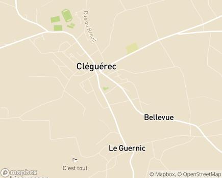Localisation Centre Communal d'Action Sociale - 56480 - Cléguérec