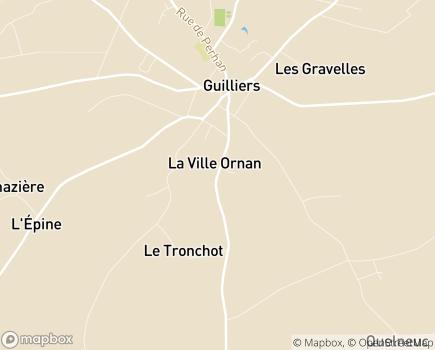 Localisation Centre Communal d'Action Sociale Services Aides Ménagéres - 56490 - Guilliers