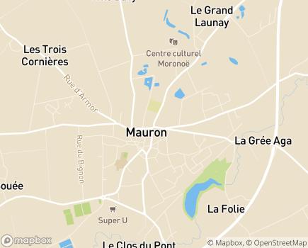 Localisation Centre Communal d'Action Sociale - 56430 - Mauron