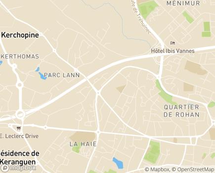 Localisation Caisse d'Allocations Familiales - 56018 - Vannes