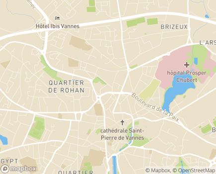 Localisation Caisse Primaire d'Assurance Maladie - 56021 - Vannes