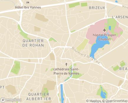 Localisation Direction de l'action sociale (DAS) et du Centre Communal d'Action Sociale (Centre Communal d'Action Sociale) - 56019 - Vannes