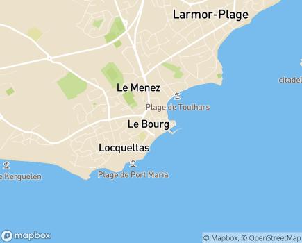 Localisation Centre Communal d'Action Sociale - 56260 - Larmor-Plage