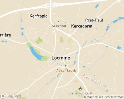 Localisation Centre Communal d'Action Sociale - 56500 - Locminé