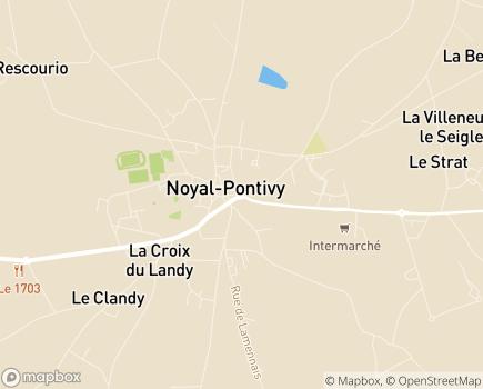 Localisation Centre Communal d'Action Sociale - 56920 - Noyal-Pontivy